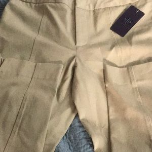 New NYDJ beige stretch khaki 10P.  Ankle length